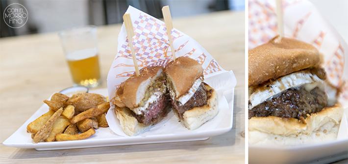 16 Goiko burger queso platano grill
