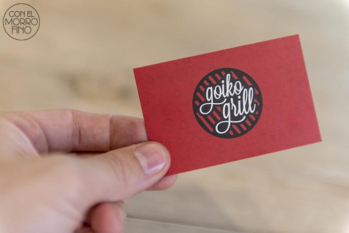 21 Goiko grill burger tarjeta