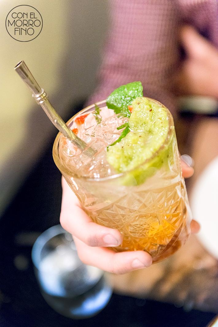 Tiradito ceviche pisco especial cocktail