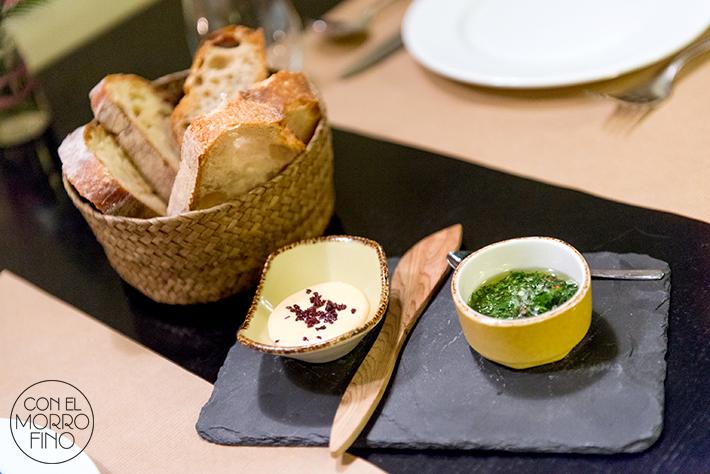 Tiradito peruano chimichurri hierbas mantequilla rocoto