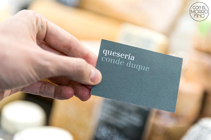 Queseria conde duque tarjeta