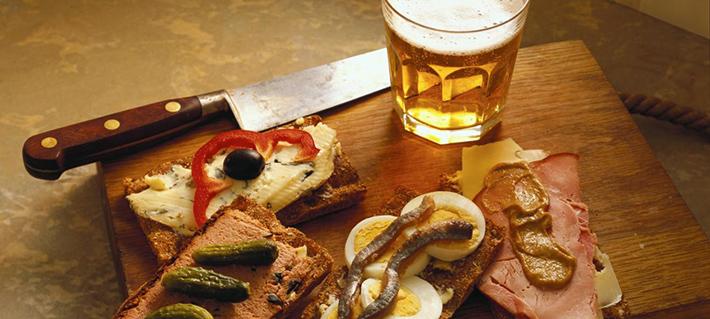 Cerveza en la comida