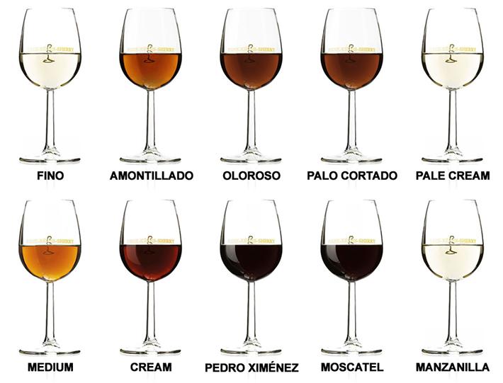 Tipos de Vino Jerez