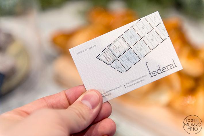 Federal cafe tarjeta