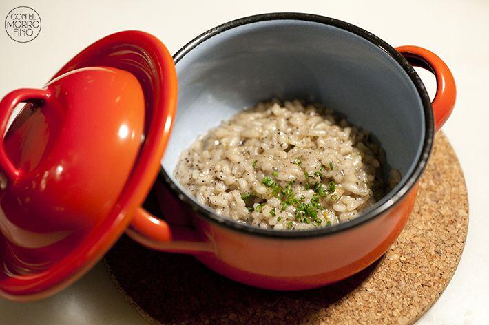 Club A Arzabal Salteado de arroz con trufa y setas