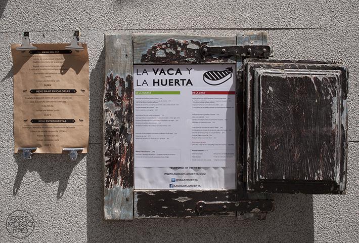La Vaca y la Huerta Restaurante Carta