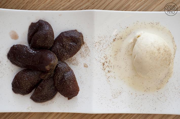 La Vaca y la Huerta Restaurante Peras al Vino con helado de vainilla