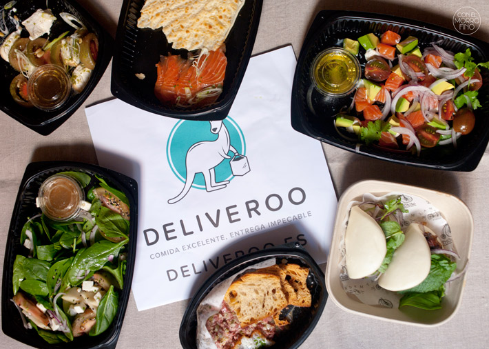 deliveroo comida a domicilio Madrid packaging