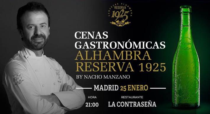 Experiencia gastronomica Nacho Manzano Alhambra
