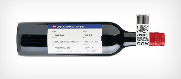 Etiqueta Vino Boarding pass 1