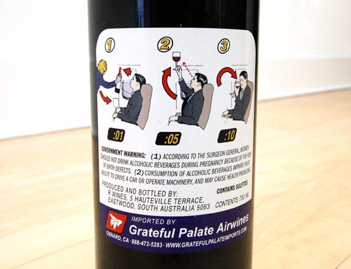 Etiqueta Vino Boarding pass 2