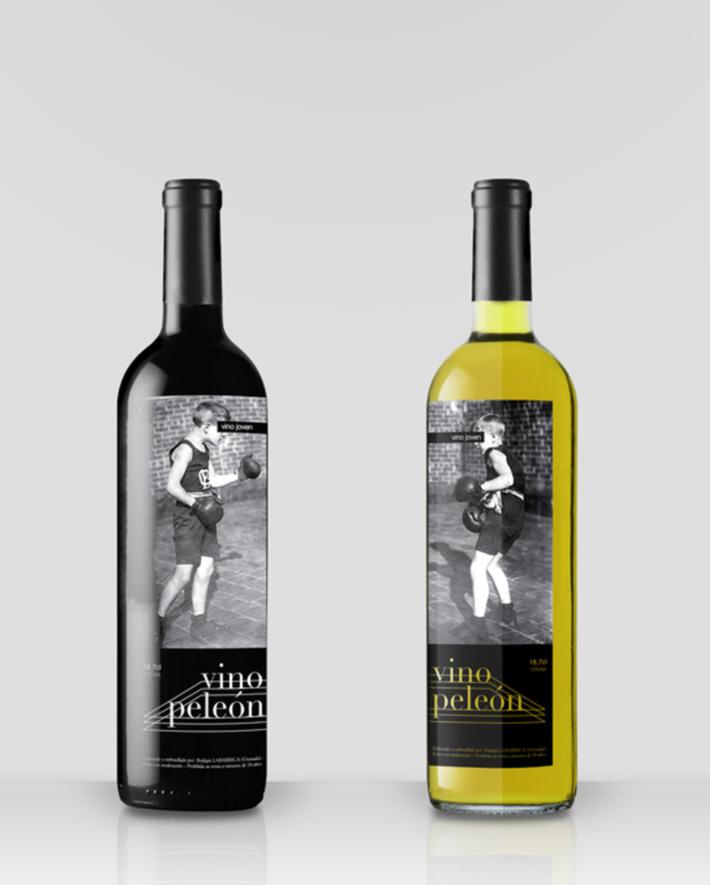 Etiqueta Vino Peleon 2