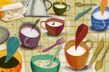 Ilustracion gastronomica portada
