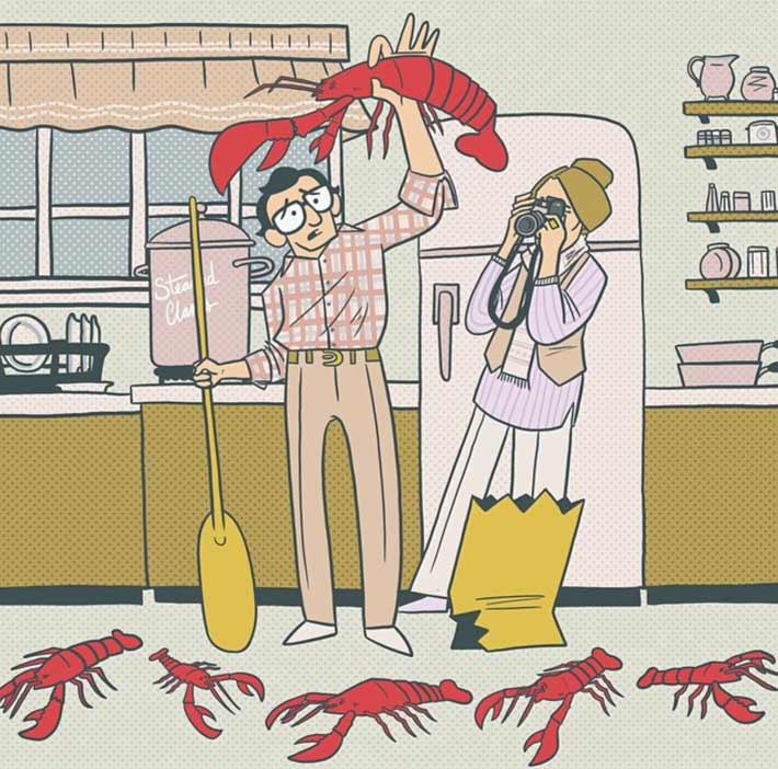 ilustradores gastronomicos henry kaye 1