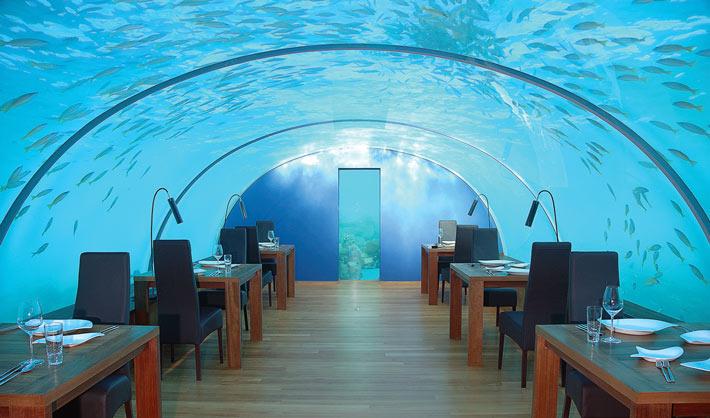 Restaurante Ithaa Maldivas
