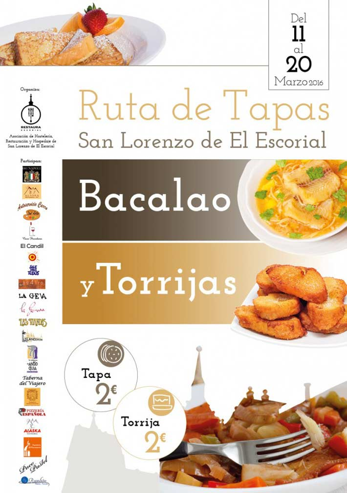 Ruta Tapas San Lorenzo del Escorial