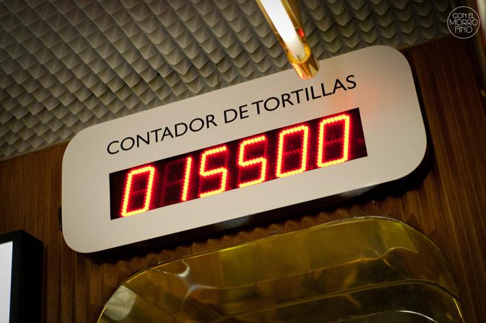 Taberna Pedraza Contador tortillas