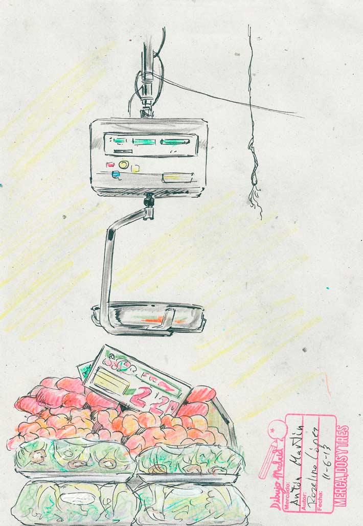 dibujo madrid mercados