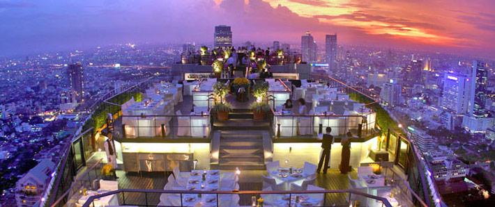 Restaurantes con vistas Vertigo Bangkok