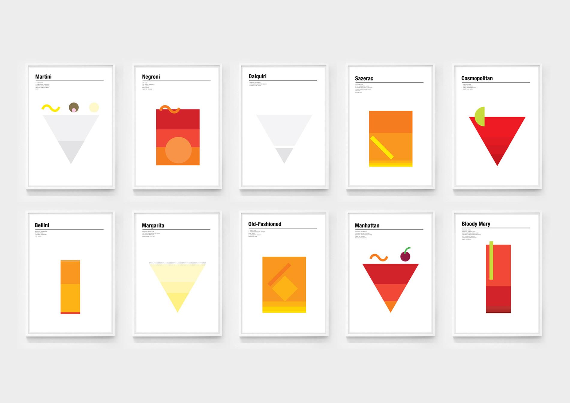 Mixología para amantes del diseño, o al revés