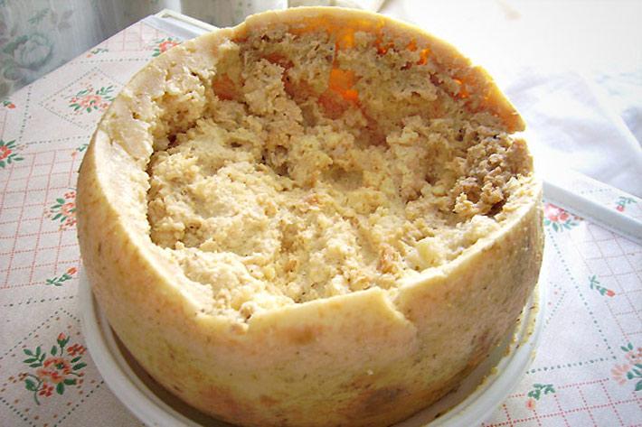 Alimentos raros Casu marzu