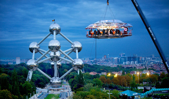 Los restaurantes mas raros del mundo Dinner In The sky