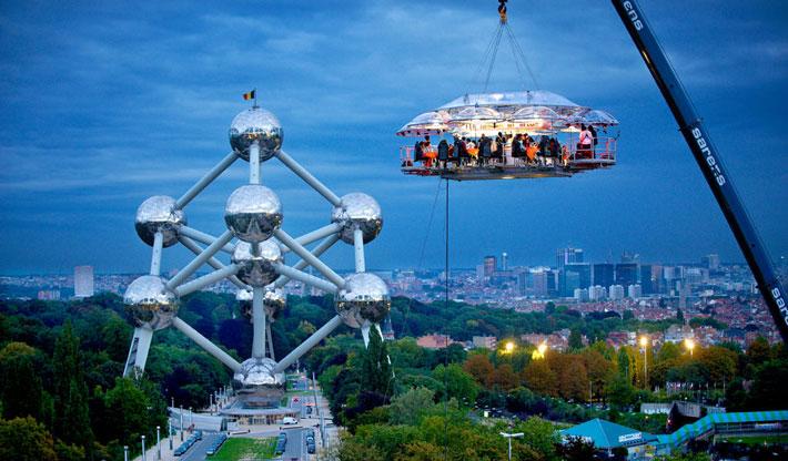 Los restaurantes mas raros del mundo Dinner In The sky