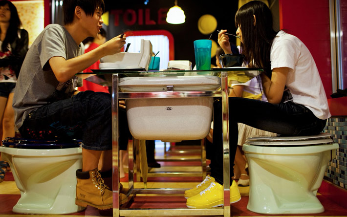 Los restaurantes mas raros del mundo The Modern Toillet