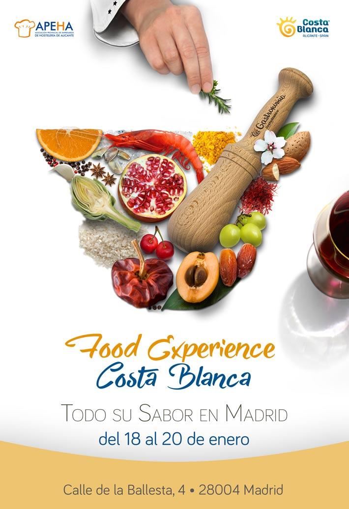 Agenda gastronomica Madrid Food Experience Costa Blanca