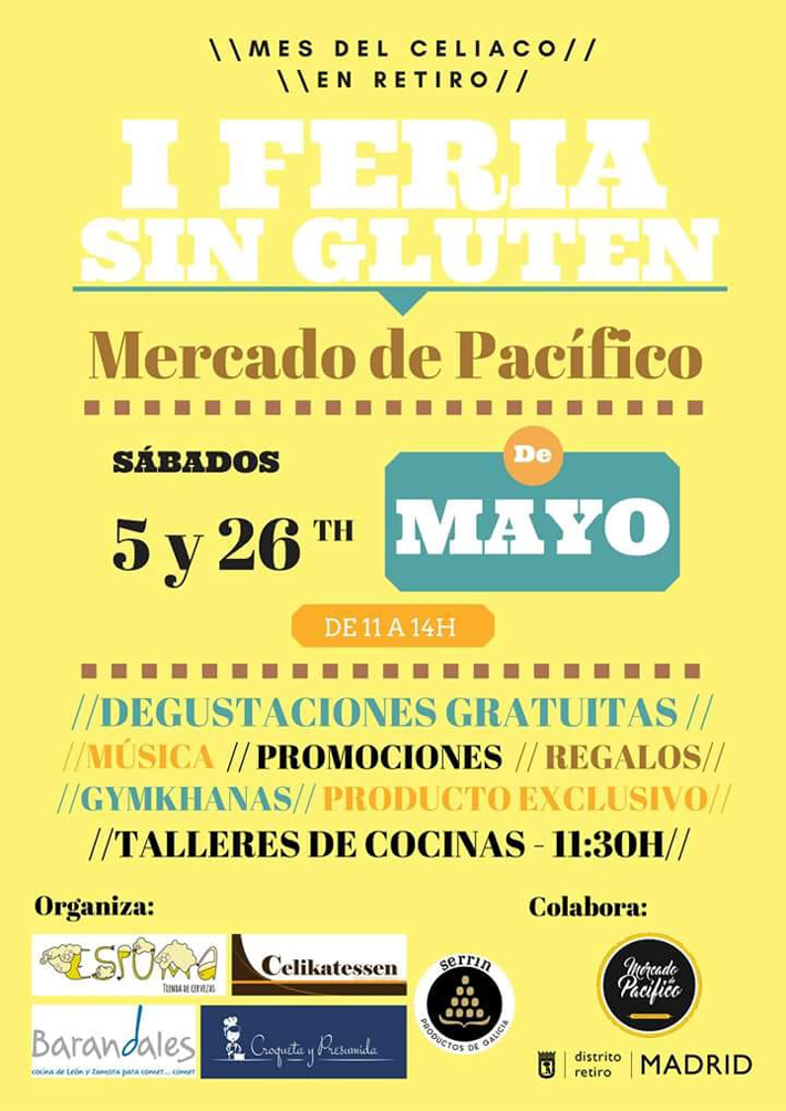 Agenda gastronomica Madrid Feria Sin Gluten Mercado de Pacifico