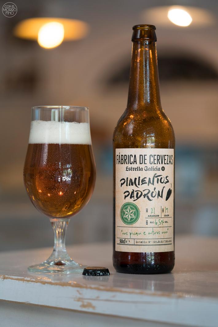 Estrella Galicia Cerveza con Pimientos de Padron 01
