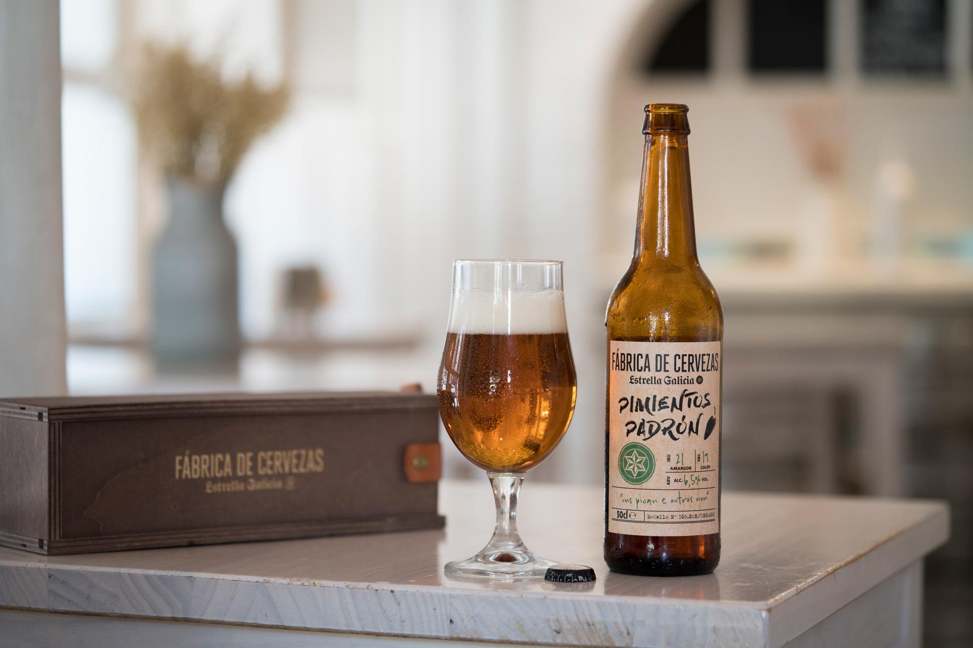 Estrella Galicia reedita su cerveza con Pimientos de Padrón