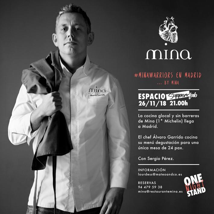 Agenda gastronomica Madrid Restaurante Mina