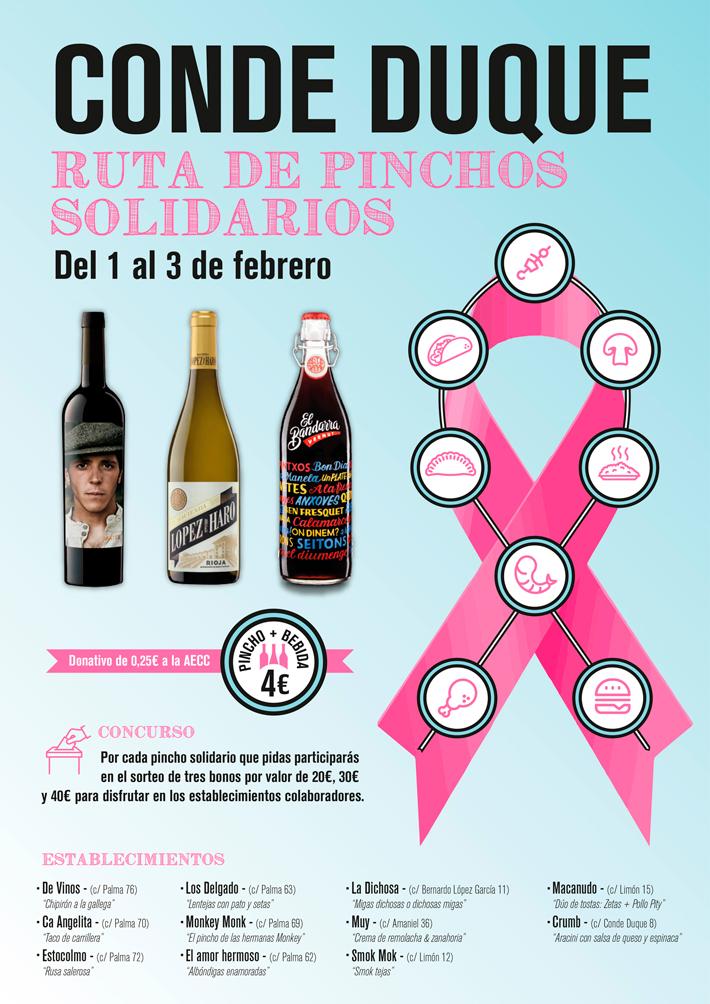 Agenda gastronomica de Madrid Ruta Pinchos Solidarios Conde Duque