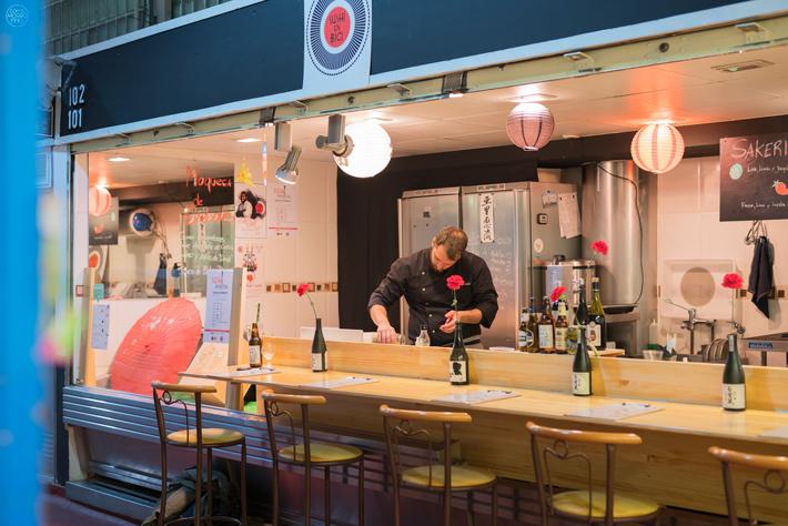 Sushi en Bici Japones Mercado de la Cebada 01
