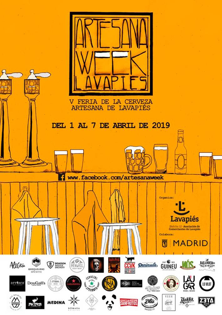 Agenda gastronomica de Madrid Artesana Week Lavapies