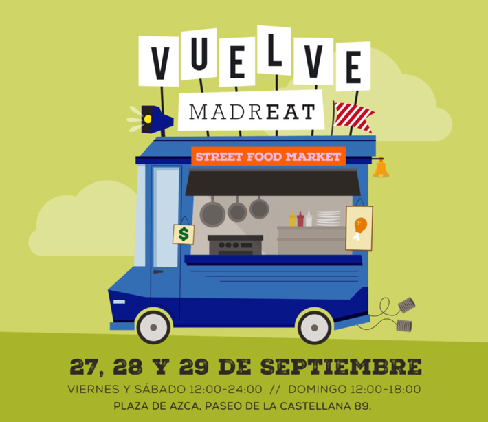 Agenda gastronomica de Madrid Madreat Septiembre 2019