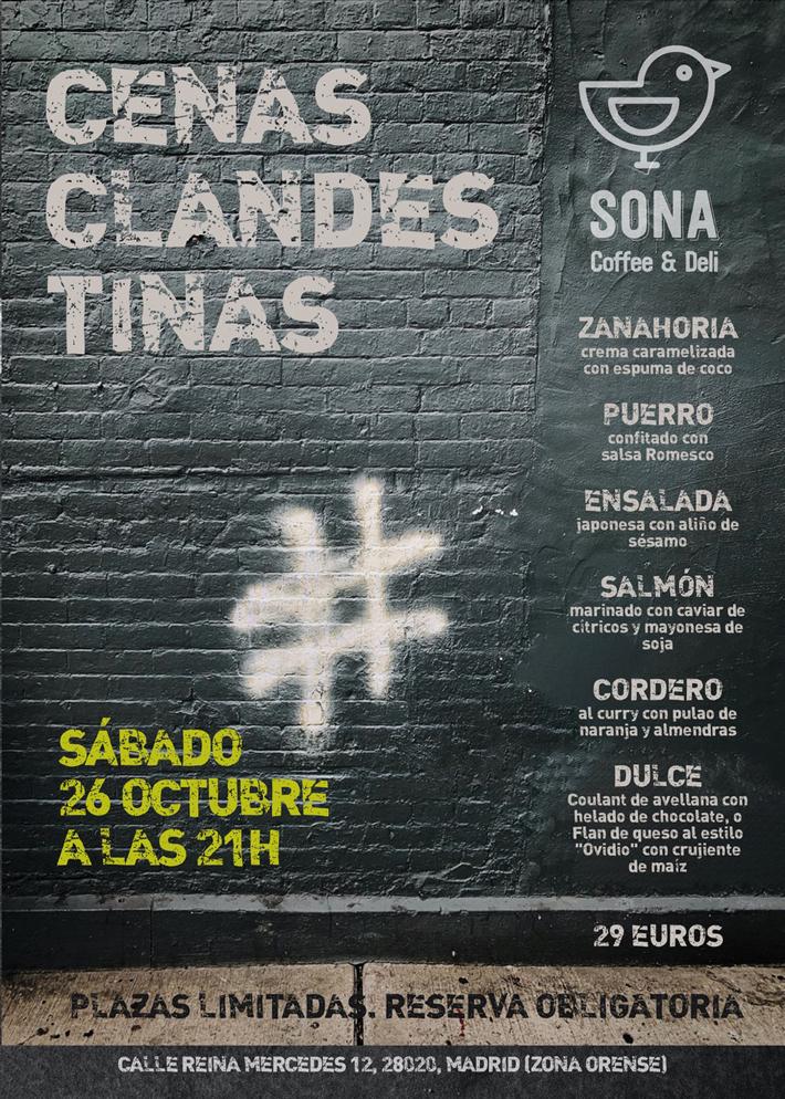 Agenda gastronomica de Madrid Cena Clandestina Sona Coffee Deli