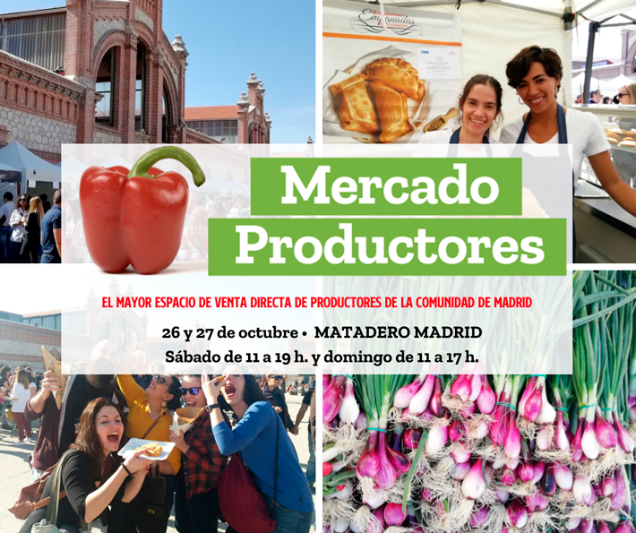 Agenda gastronomica de Madrid Mercado de Productores Octubre 2019