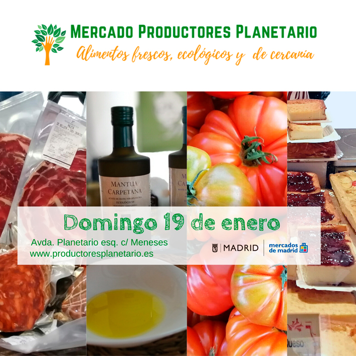 Agenda gastronomica de Madrid Mercado Productores Planetario