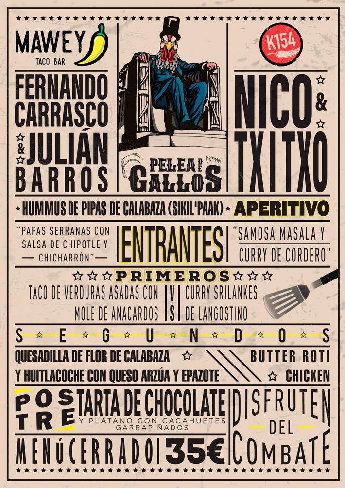 Agenda gastronomica de Madrid Pelea de Gallos Mawey Kitchen 154